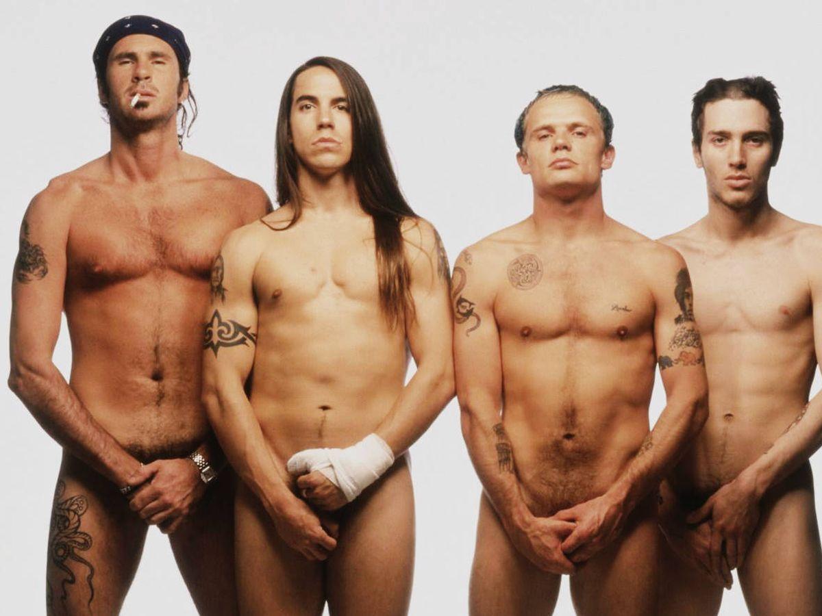 Foto: Red Hot Chili Peppers. John Frusciante es el primero por la derecha.