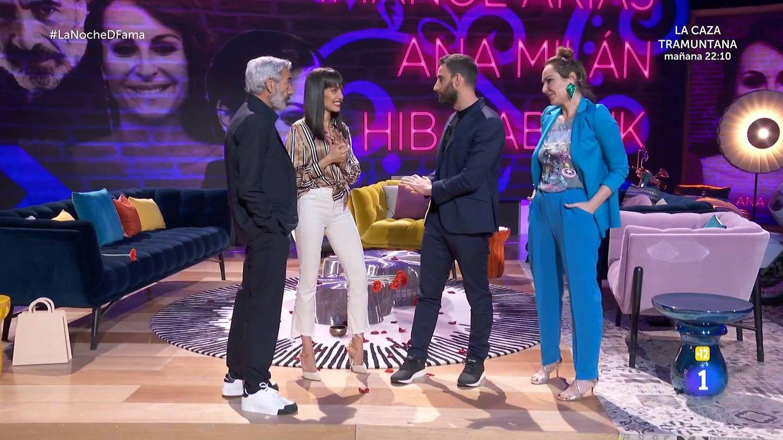 Hiba Abouk y Dani Rovira, en 'La noche D'. (TVE)