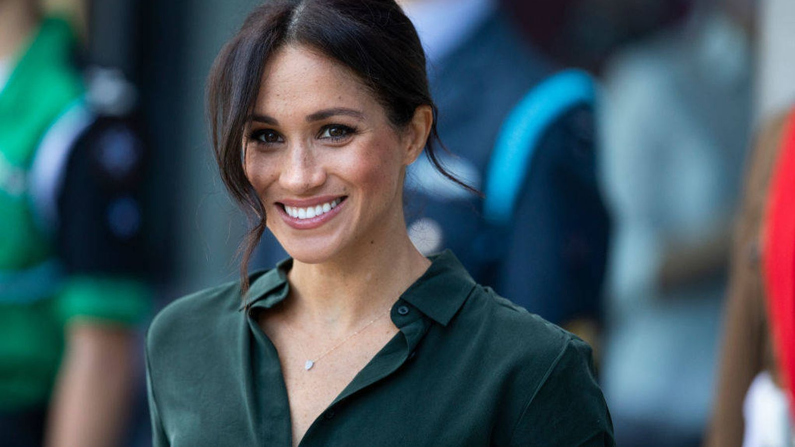 Foto: La duquesa de Sussex, durante una visita a Chichester. (Getty)