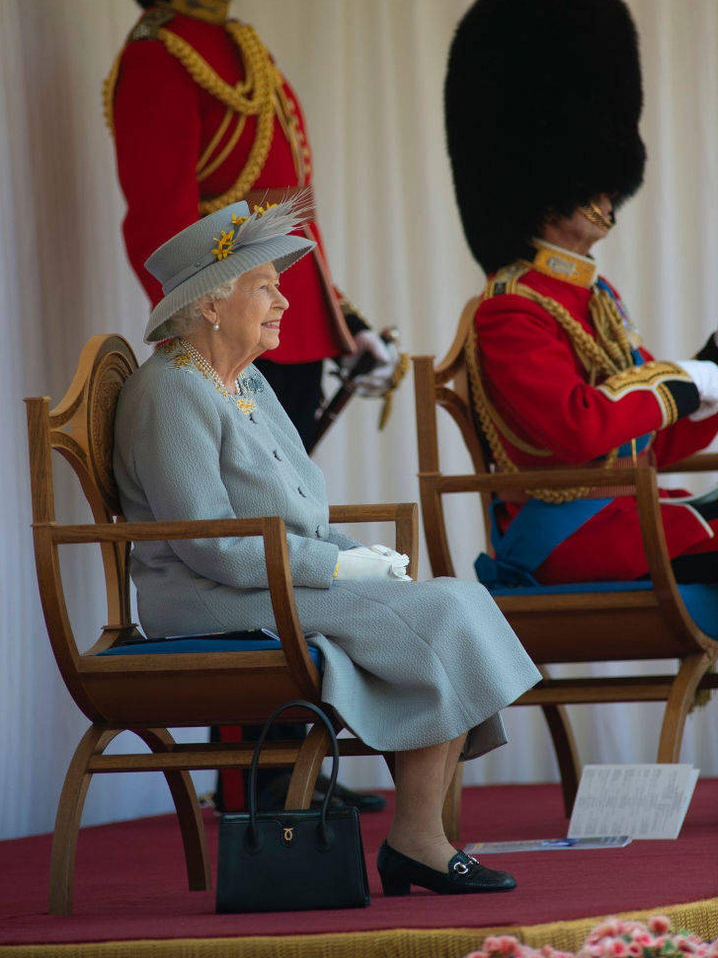 Isabel II en el Trooping Of The Colour 2021. (Getty)