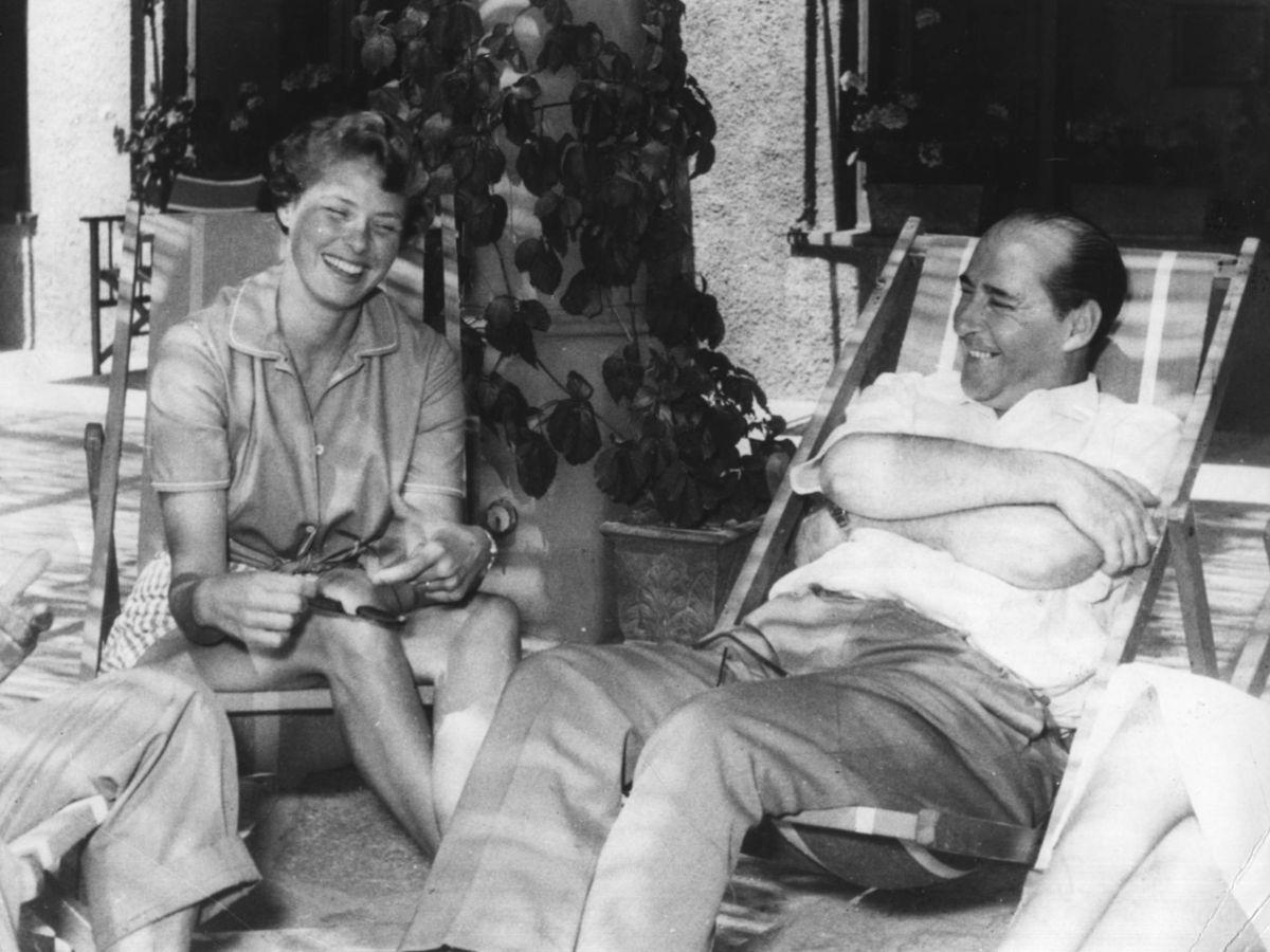 Foto: Ingrid Bergman y Roberto Rossellini, en 1952. (Getty)