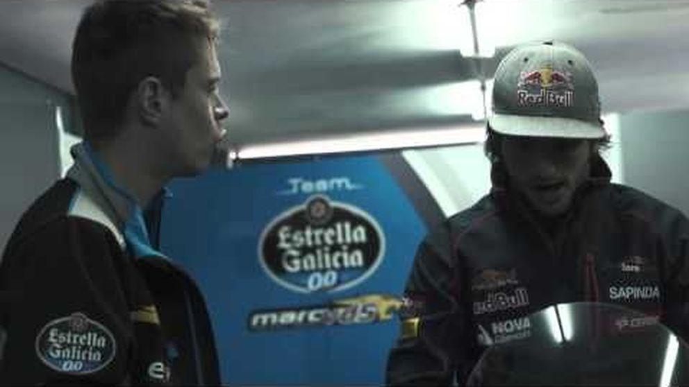 Carlos Sainz y Tito Rabat, el debut en moto del piloto de F1