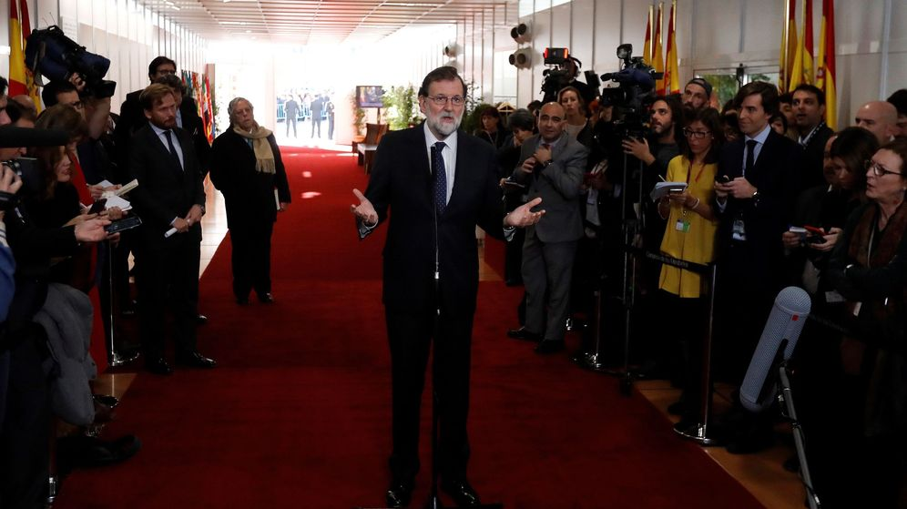 Foto: El presidente del Gobierno, Mariano Rajoy, durante las declaraciones que realizó en el Congreso de los Diputados. (EFE)