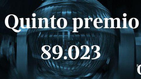 Todos los quintos premios: 89.023, 73.867, 51.688, 59.435, 00943, 43.221, 70.481 y 18.102