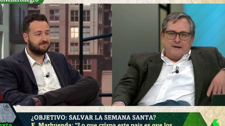 Marhuenda tirando la toalla en 'La Sexta noche'. (Atresmedia).