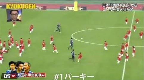 Tres jugadores de la selección de Japón se enfrentan a cien niños... y ganan el partido