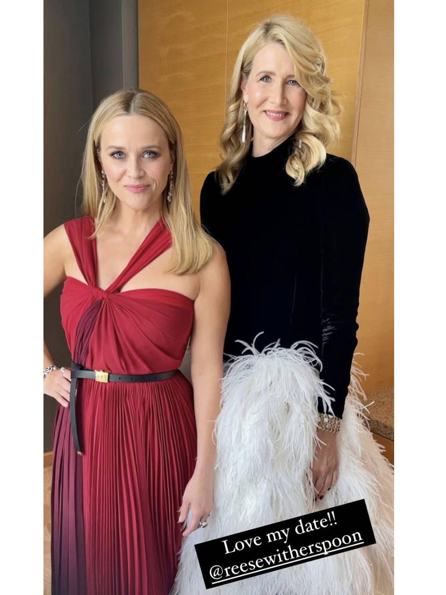 Reese Witherspoon y Laura Dern. (Instagram)
