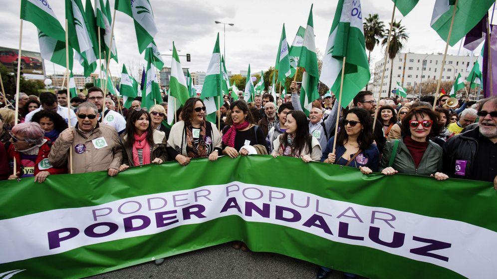Foto: Teresa Rodríguez durante una manifestación