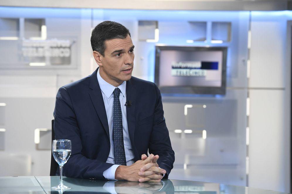 Foto: Pedro Sánchez, este 25 de julio durante su entrevista en 'Informativos Telecinco'. (Borja Puig de la Bellacasa | Moncloa)
