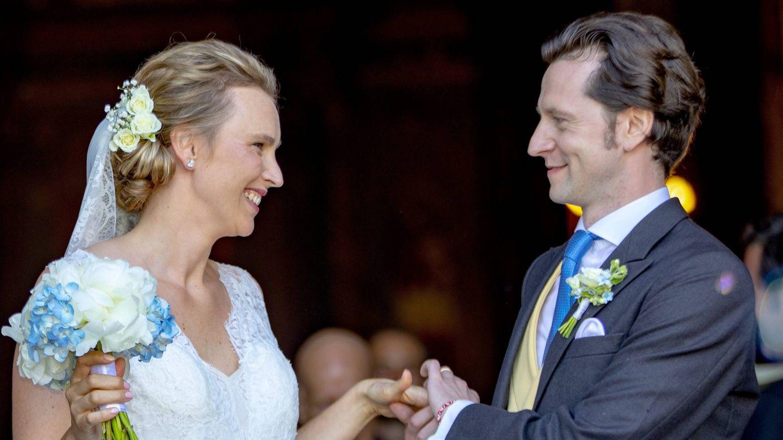 Joaquín Alberto de Prusia y Angelina de Solms-Laubach en su boda en Mallorca. (Cordon Press)