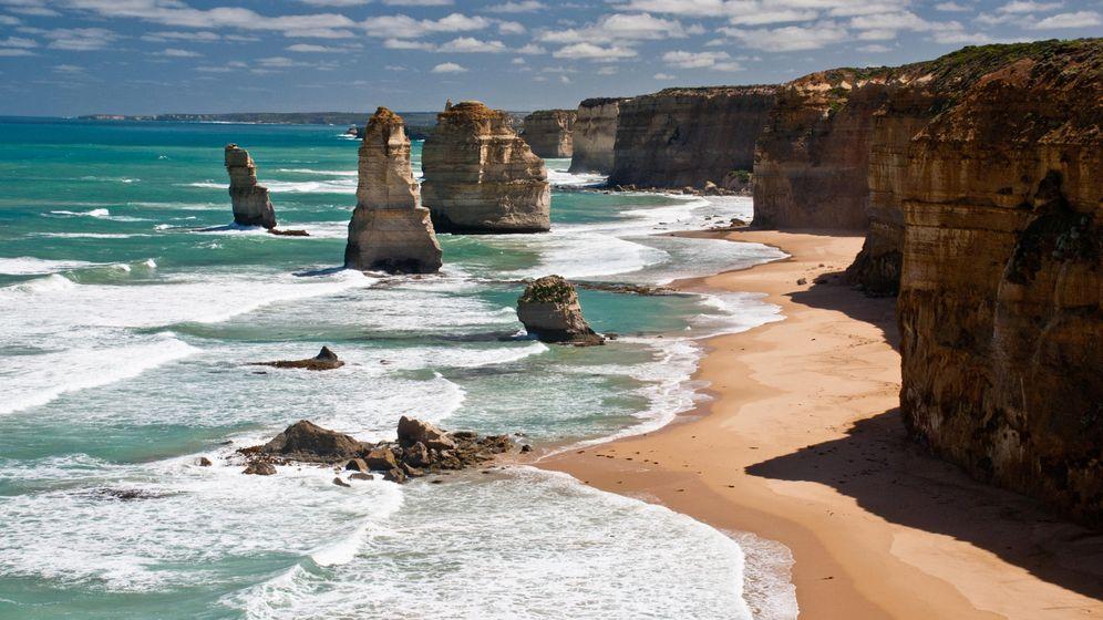 Foto: Los Doce Apóstoles, una de las formaciones geológicas más impresionantes de Australia