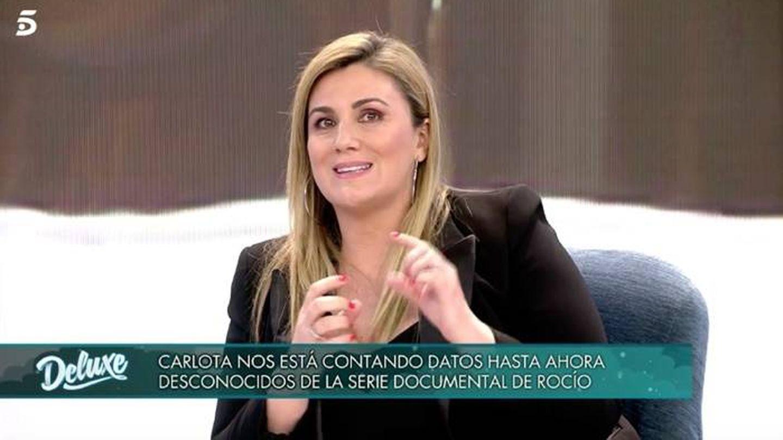 Carlota Corredera, en el plató. (Mediaset)