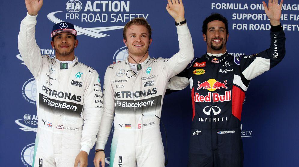 Foto: Rosberg consiguió el mejor tiempo en la Q2, por delante de Ricciardo y Hamilton (Reuters)