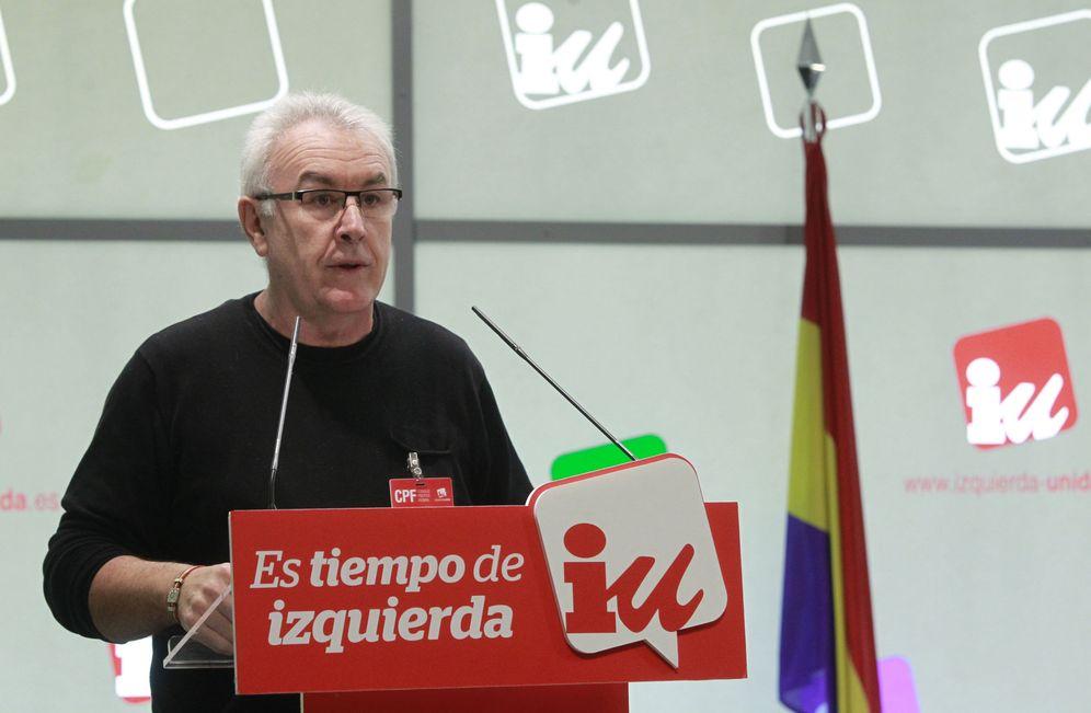 Foto: Cayo Lara, durante su intervención en el Consejo Político Federal de IU, este 6 de febrero. (EFE)