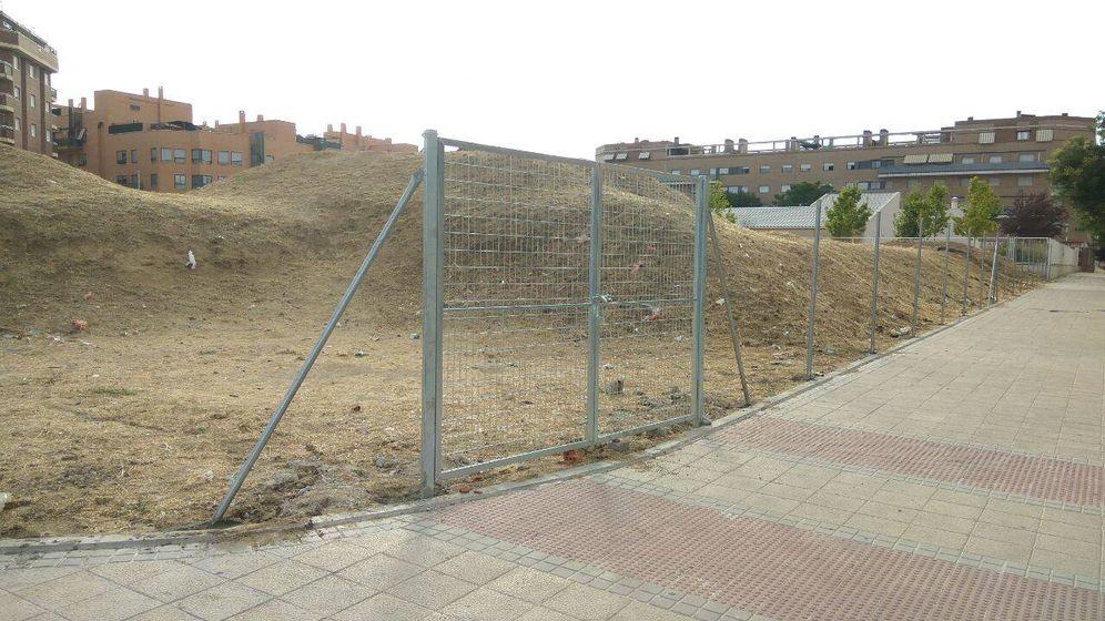 Foto: La parcela donde se levantará la parroquia.