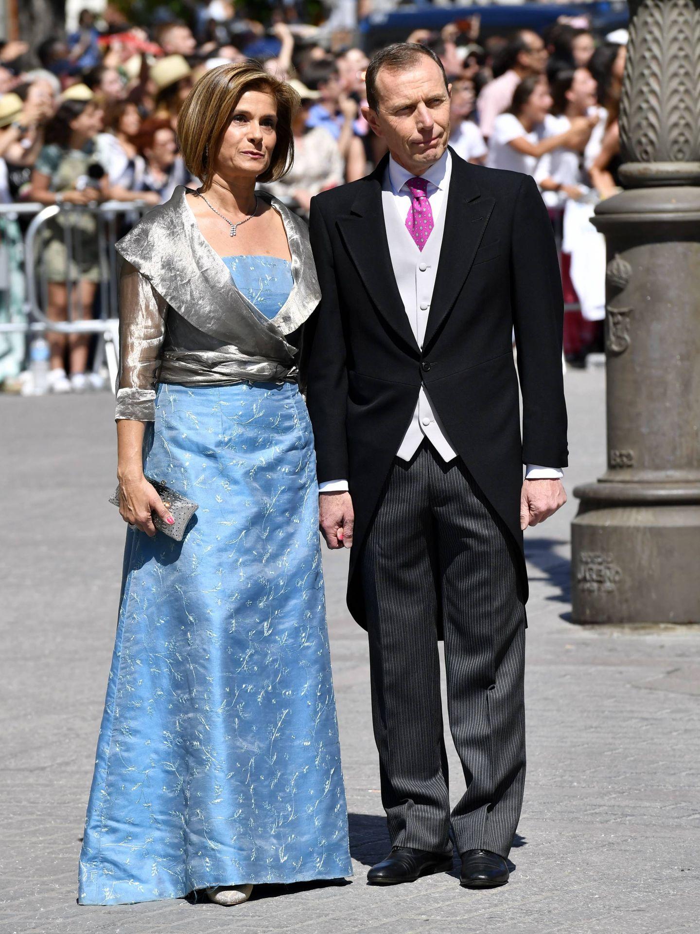 Emilio Butragueño  y su mujer, Sonia González. (Cordon Press)