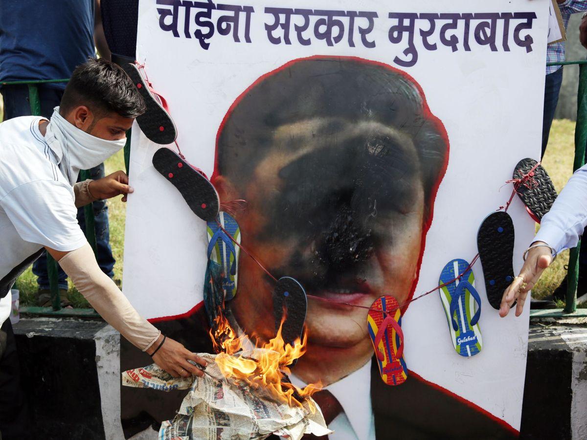Foto: Una protesta contra China en Amritsar, India. (EFE)