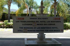 La agonía del hotel Los Monteros