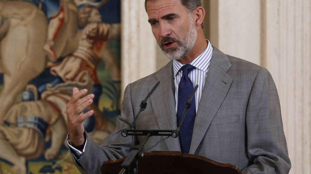 Foto: El rey Felipe VI, en el acto de entrega del IV Premio Enrique V. (EFE)