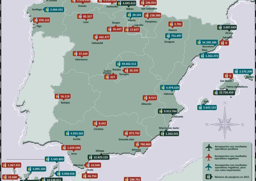 Aeropuertos En España Mapa.Noticias De Alemania La Ruina Que Llego Del Cielo Espana