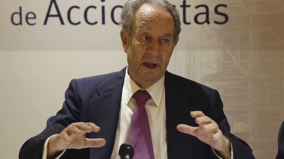 Foto: Juan Miguel Villar Mir, durante la rueda de prensa previa a la Junta General de Accionistas. (EFE)