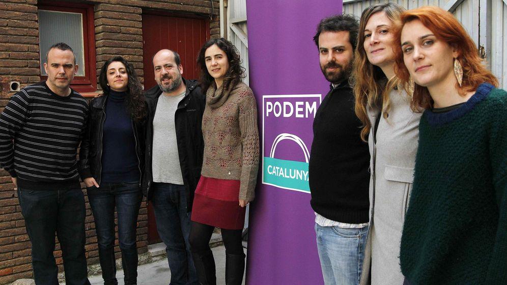 Foto: Gemma Galdón (2d) , responsable de la secretaria de programa de Podem Catalunya. (EFE)