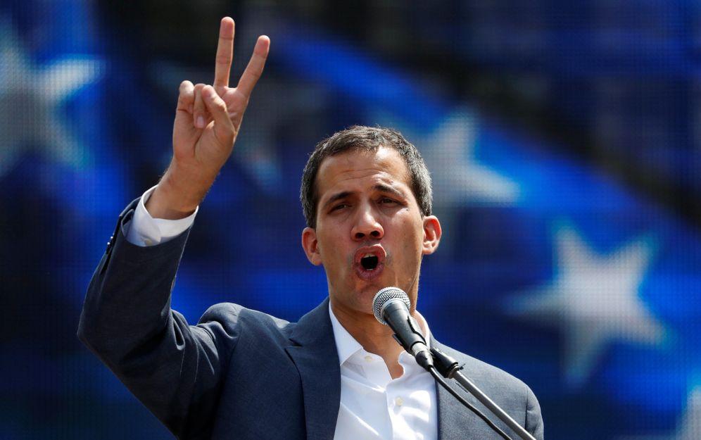 Foto: Juan Guaidó, en un momento de la concentración de este sábado en Caracas. (Reuters)