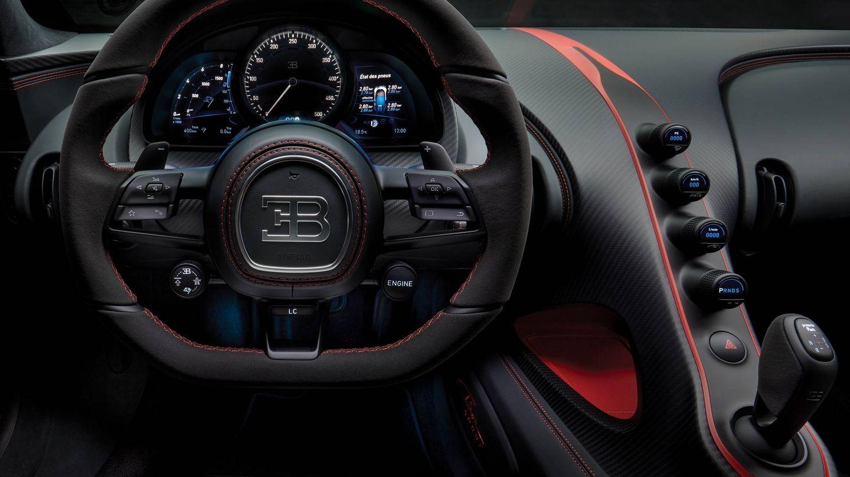 Interior del Bugatti Chiron Sport.