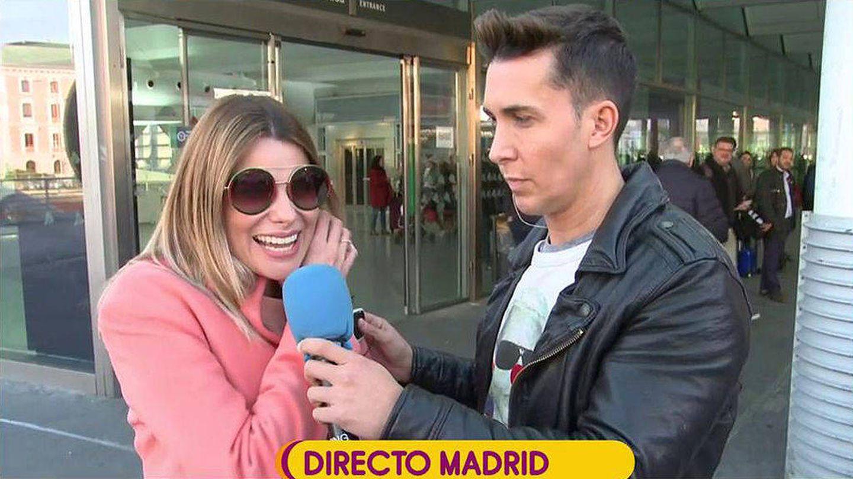 María Lapiedra con Omar Suárez. (Mediaset España)