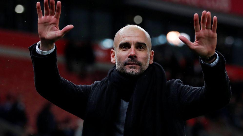 Foto: Pep Guardiola, durante un partido del Manchester City. (Reuters)
