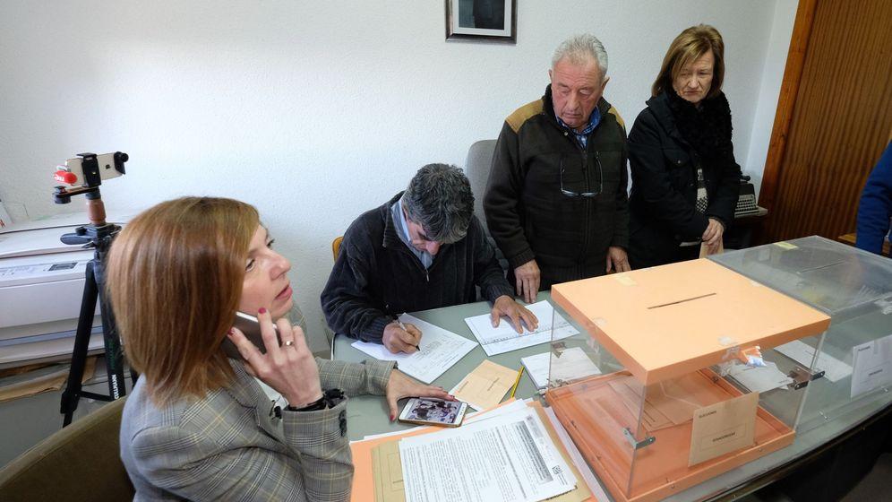 Foto: Villarroya este domingo tras finalizar la votación.