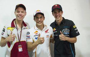 El día en el que Márquez no pudo dar lecciones al resto del 'Rufea Team'