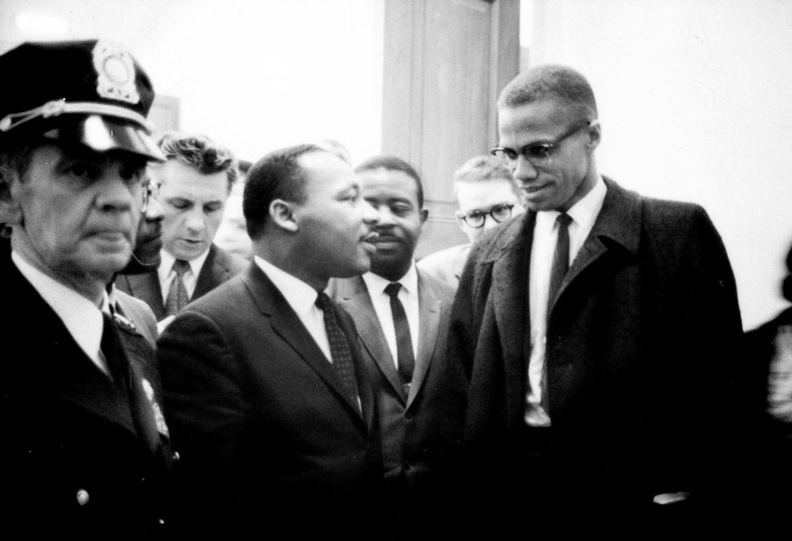 Foto: Martin Luther King y Malcolm X