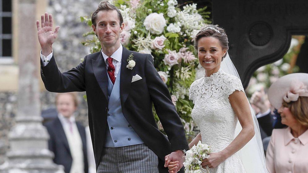 Foto: Pippa Middleton y James Matthews recién casados.