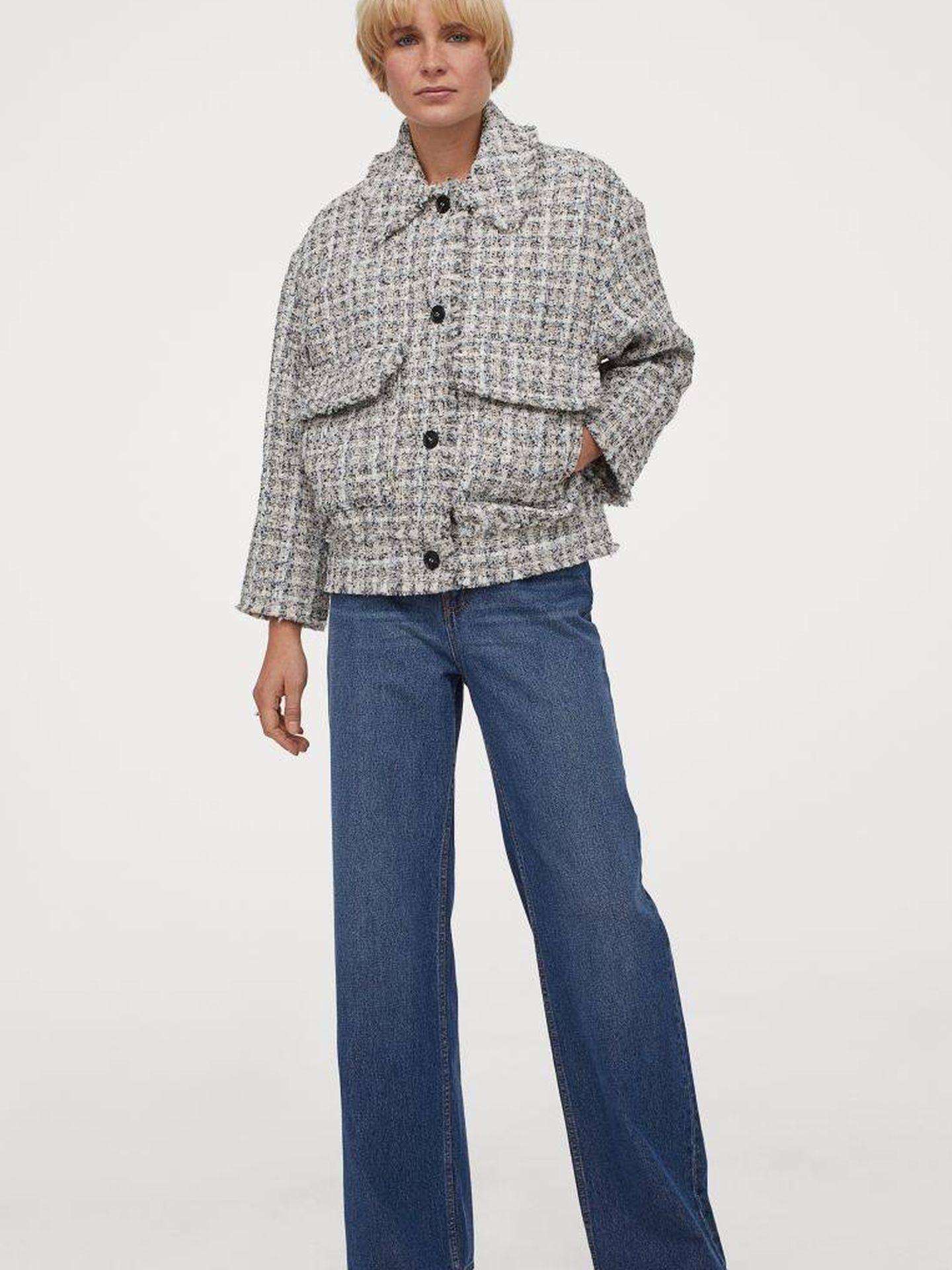 La chaqueta de tweed de HyM. (Cortesía)