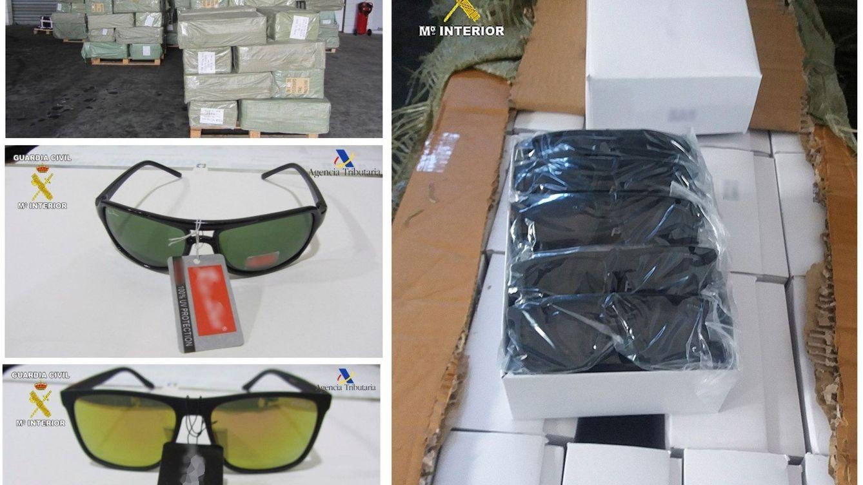 Interceptan en el puerto de Melilla 56.000 gafas de marca falsificadas