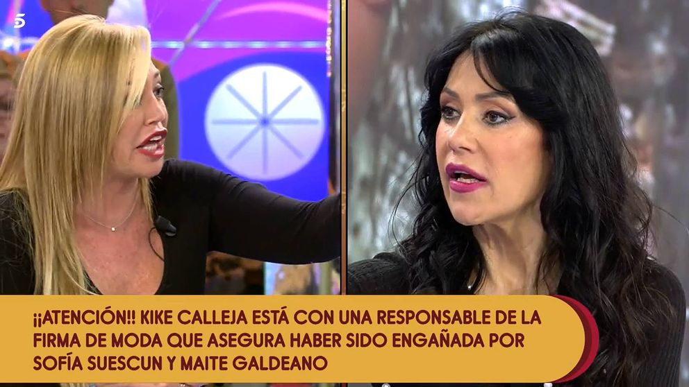 'Sálvame' | Belén Esteban revienta contra Maite Galdeano: Cuidadito conmigo