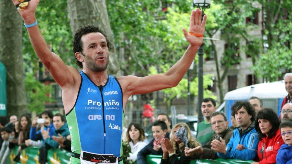Foto: Alejandro Santamaría, un atleta superlativo, en la imagen tras ganar una prueba (EFE)