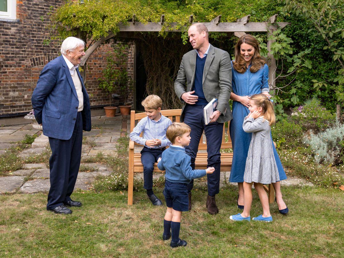 Foto: George, Charlotte y Louis. (Palacio de Kensington)
