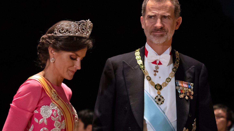 Don Felipe y doña Letizia en Tokio. (Efe)