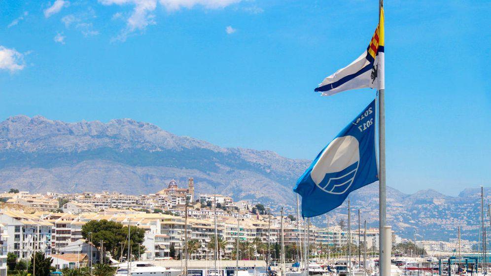 Foto: Bandera azul en Benidorm. (Efe)
