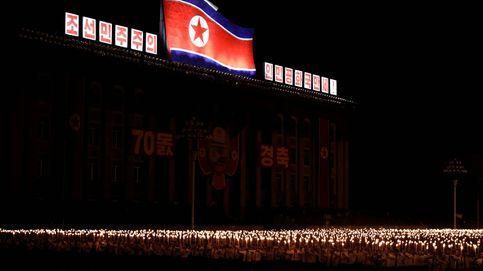 La marcha de las antorchas en Pyongyang