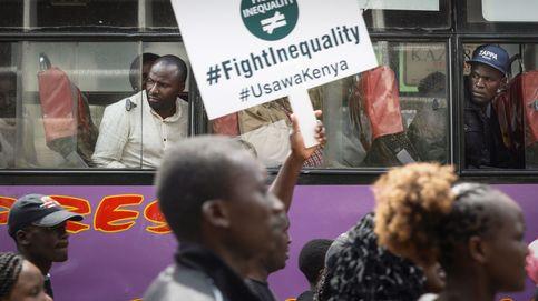 Activistas keniatas protestan contra la desigualdad
