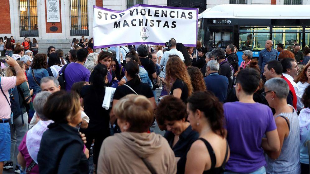 Foto: Concentración de 2019 contra las violencias machistas en la Puerta del Sol. (EFE)