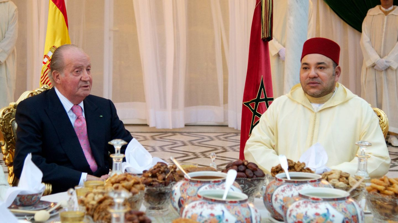 Juan Carlos I y Mohamed VI. (Getty)