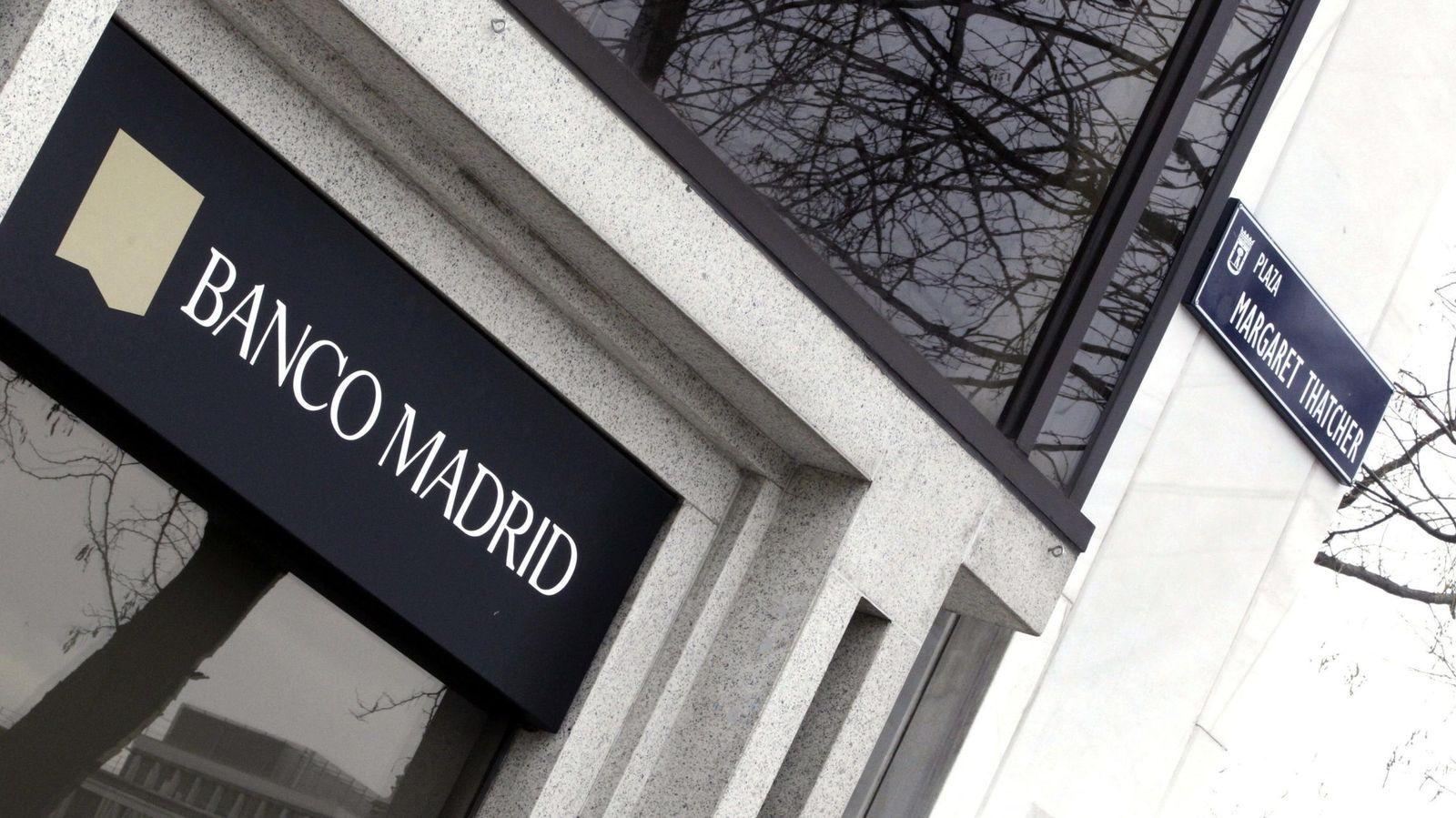 Foto: Fachada del Banco Madrid. (Efe)