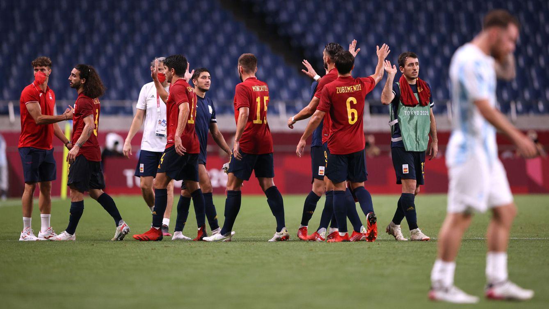 Foto: España sufrió para alcanzar los cuartos de final. (Reuters)