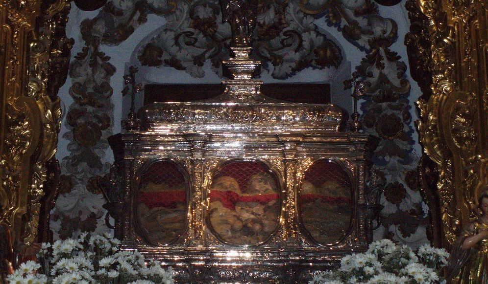 Foto: Arca de las reliquias de los mártires de Córdoba