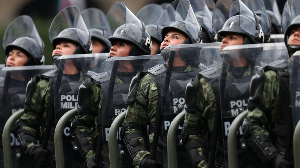 Foto: Policía militar de Ciudad de México. (Reuters)