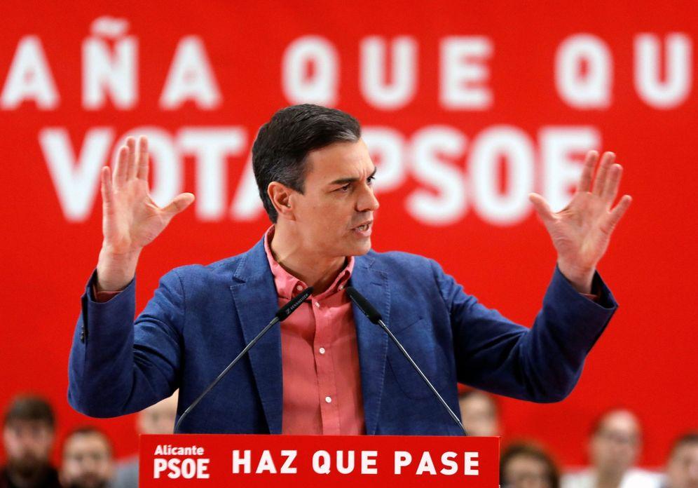 Foto: Pedro Sánchez, este 20 de abril durante su mitin en Alicante. (EFE)